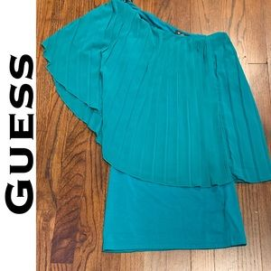 NWT! Guess Orchid One Shoulder Dress Sapphire